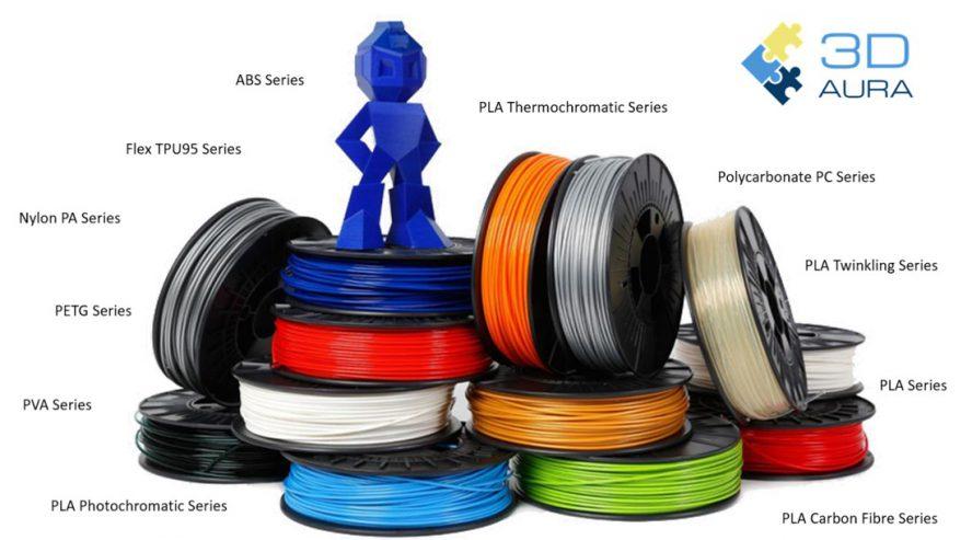 Filaments Resins 3d Aura