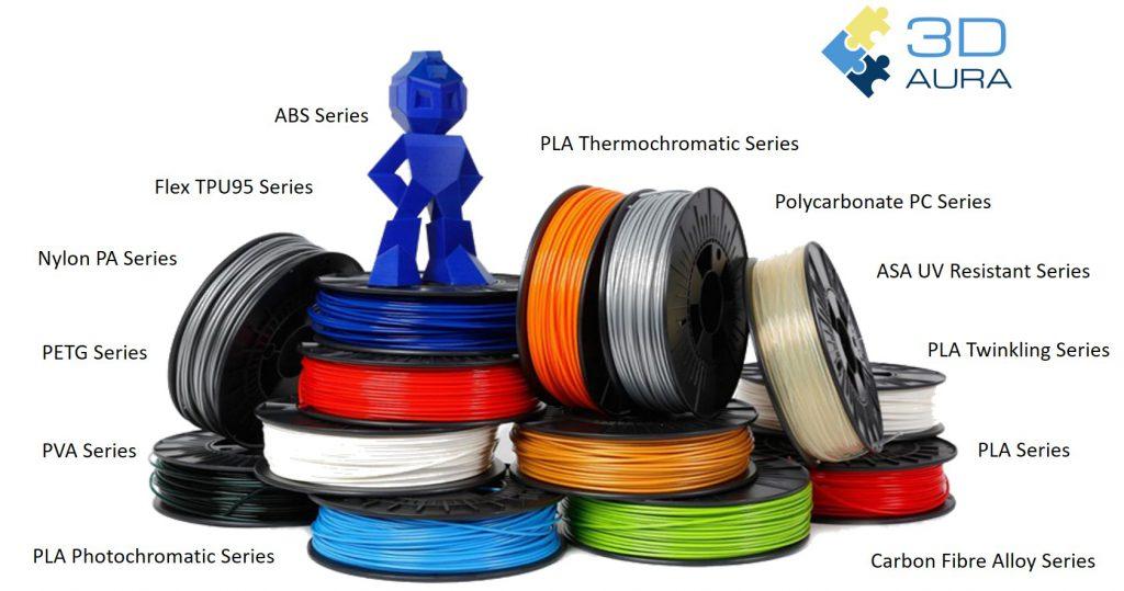 Filaments & Resins – 3D Aura